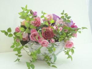 薔薇いっぱいアレンジメント