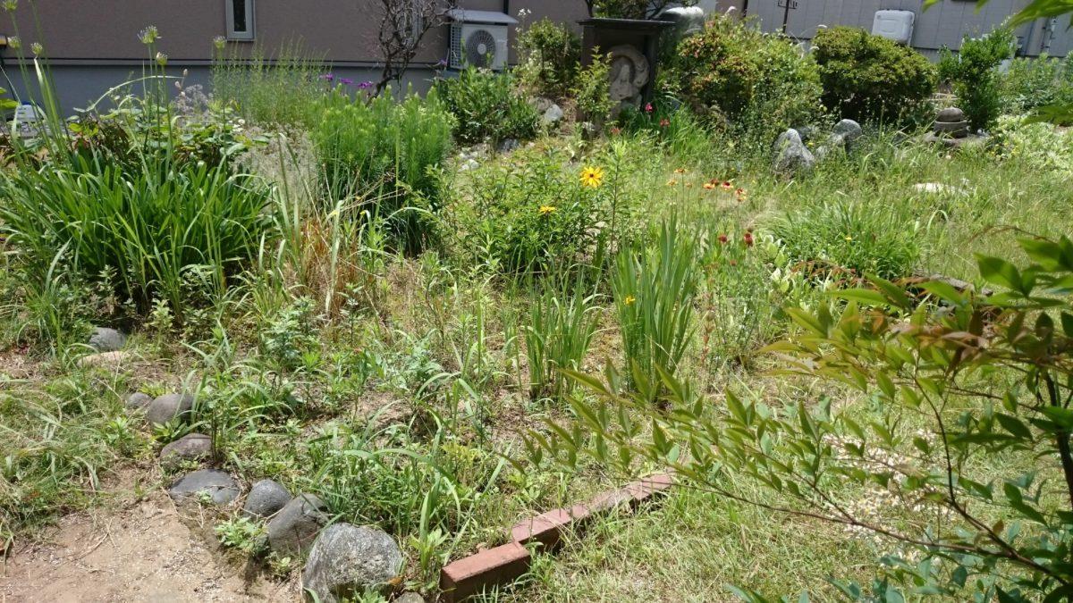 空き家問題=庭の整理