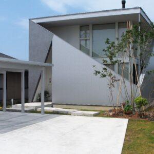 デザイナーズ建築と雑木